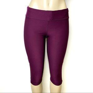 LUCY Purple Crop Athletic Workout Capri Pants Sz M